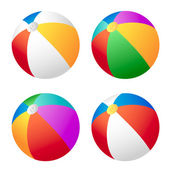 Beach ball set — Stock Vector