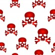 Red skull background — Stock Vector #44629127