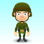 Soldier character — Stock Vector