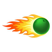 Flaming bowling ball — Vetorial Stock