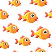 Fondo de peces de colores — Vector de stock