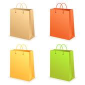 Paperbag set — Stock Vector