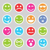 Flat smiley icons — Stock Photo