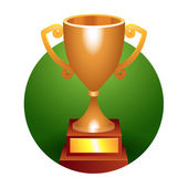 Trophy bronze cup — Stock Photo