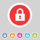 Flat game graphics icon lock — Stock Vector
