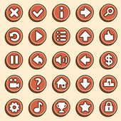 Flat and simple video game buttons — Stock Vector