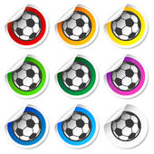 Soccer football stickers, labels set — Stock Vector