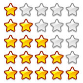 Game web rating stars set — Stock Vector
