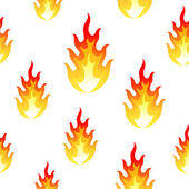 Flame, fire seamless background — Stock Vector