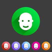 User avatar, face, profile flat icon — Stock Vector