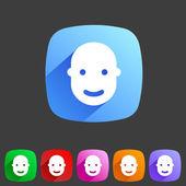 User avatar, face, profile flat icon — Stockvector