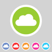Cloud flat shape icon, set, collection — Stock Vector