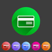 Bank credit card flat icon — Stockvector
