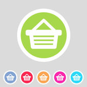 Shopping basket flat icon — Stock Vector