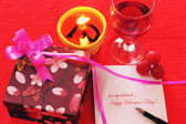 Valentine gifts — Stock Photo