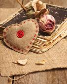 Valentine decorations with heart — Φωτογραφία Αρχείου
