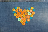 Heart from buttons — Stockfoto