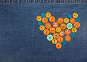 Heart from buttons — Stock fotografie