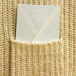 White envelope (letter) in the pocket — Stock Photo