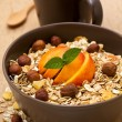 Muesli with fruit and nuts — Stock Photo #39506465