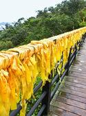 Rubans jaunes traditionnels chinois — Photo