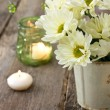 Bouquet of white chrysanthemums — Stock Photo