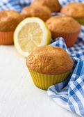 Lemon cupcakes — Stock Photo
