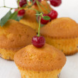 Stock Photo: Cupcakes with a cherry