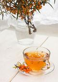 Sea ??buckthorn tea — Stock Photo