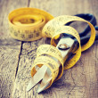 Scissors and measuring tape — Stock Photo #40012147