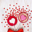 Red heart lollipops — Stock Photo #40012251