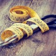 Scissors and measuring tape — Stock Photo #40013789