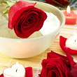 Spa decoration with roses — Stock Photo #41627287