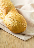 Baguette with sesame seeds — Stockfoto