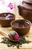 Asian tea set — Stock Photo