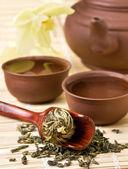 Jogo de chá asiático — Fotografia Stock