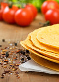 Stack of tortillas — Stock Photo