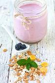 Muesli and yogurt — Stock Photo