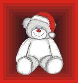 Christmas Polar Bear — Stock Vector