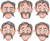 Facial expressions 1 — Stock Vector