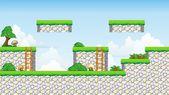 2D Tileset Platform Game — Stock Vector