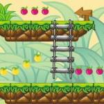 2D Tileset Platform Game 12 — Stock Vector