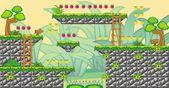 2D Tileset Platform Game 15 — Stock Vector