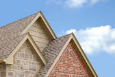 Three Roof Gables — Stock Photo