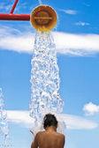 Water park and splash pad — Stock Photo