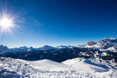The mountains of Cortina d'Ampezzo — Stock Photo