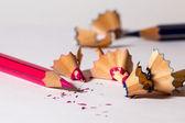 Sharpening pencils — Stock Photo