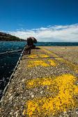 Berth on the pier of an italian little port — Stock Photo