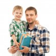 Son hugging his father — Stock Photo #47109821