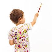 Little boy with paintbrush — Stock Photo